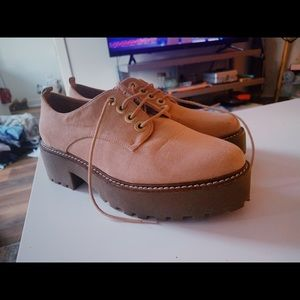 Stradivarius dark pink fall boots size 8